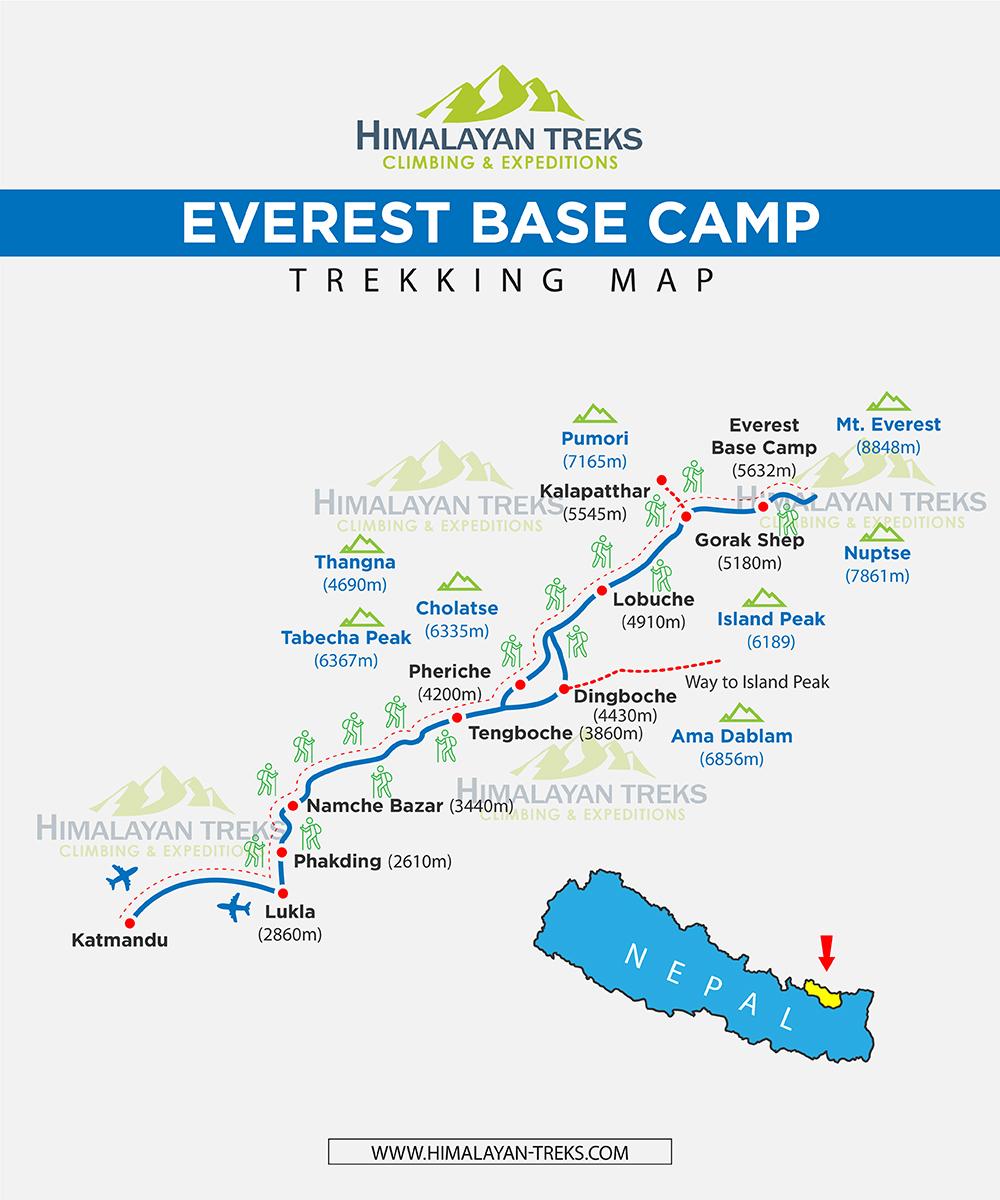 himalaya everest base camp map