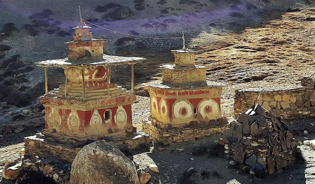 2 temples of Nepal at himalayas