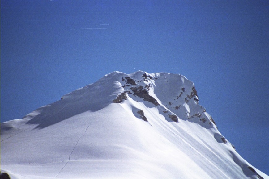 View of a the lhakpa mountain peak.