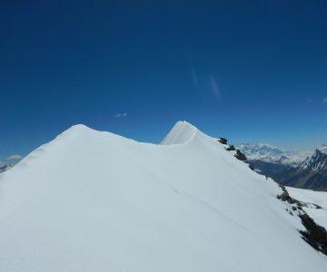 Chulu far east summit ridge